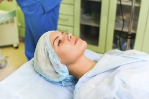 woman in surgery